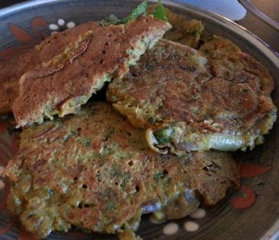 Pancakes aux legumes 1