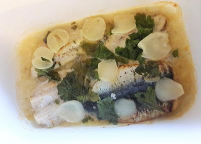 Sardines a l ail au four